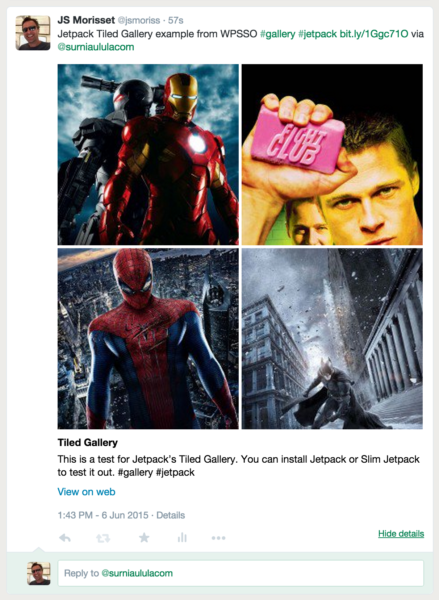 An Example Twitter Gallery Card from WPSSO Meta Tags